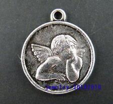 15pcs Tibetan Silver Angell Boy Coin Pendants 23x19x2mm 1569