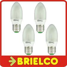 LAMPARA BOMBILLA BAJO CONSUMO FLUORESCENTE LUZ DIA VELA E27 9W 220V 4UDS BD4072