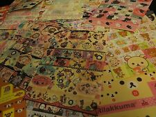 Kawaii RARE Sticker Sheet Hello Kitty Rilakkuma Mamegoma Sentimental Circus 1pc