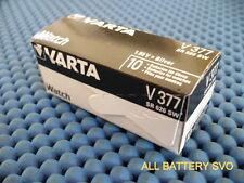 10 BATTERIES BATTERIE VARTA mod. V377/V376 A BOUTON POUR HORLOGES SR 626 SW, AG4