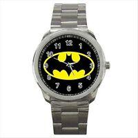 Batman Logo Quality Sport Metal Wrist Watch Gift NEW