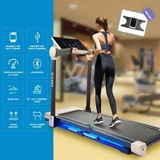 Zelus Folding Treadmill for Home or Office Workout Equipment w Bluetooth Speaker