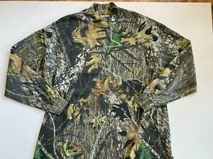 Mossy Oak Camouflage Mock Neck Long Sleeve Hunting Shirt Men's 3XL