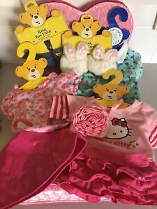 Build A Bear Clothes , Slippers , Sandals & Bed Bundle