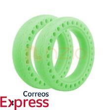 """Ruedas 8.5"""" antipinchazos sólida maciza fluorescente Verde patinete Xiaomi Scoot"""