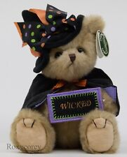 "The Bearington Collection 10"" Tricky Nikki Brown Plush Bear 181327 NWT"