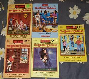 BOXCAR CHILDREN Books Gertrude Warner Homeschool Lot Of 5 : 1 2 10 27 56