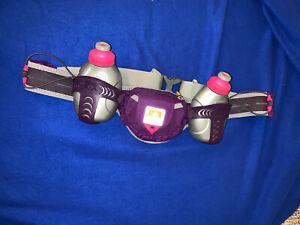 Nathan Hydration Belt Purple Grey 2 Water Bottles Adjustable Running Waist Pack