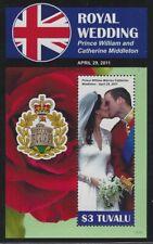 Tuvalu 2011 Royal Wedding S/S set Sc# 1165-67 NH