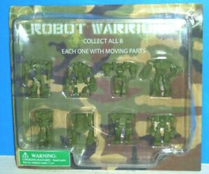 Robot Warriors Vending Machine Action Figure set (8) on Card- New in Package!!!
