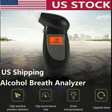 Digital Alcohol Breath Analyzer Tester Detector Test Alert Breathalyzer Keychain