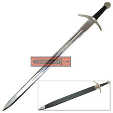 Templar Knight Medieval Claymore Type XI Crusader Steel Sword with Hard Scabbard