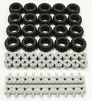 Wheel and Technic Plate Axles Bulk Lot 50 Pieces Total ☀️NEW Lego 24 X 14 Tire