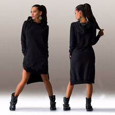 Chic Women Long Sleeve Pocket Hoodie Gyspy Jumpers Sweatshirt Tops Sweater Dress
