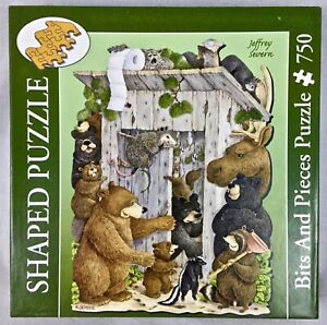 """Jeffrey Severn """"Whose Turn Is It"""" Outhouse Animal Puzzle Bits And Pieces 750"""
