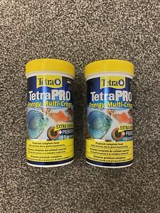 Tetra Pro Energy Premium Fish Food for Tropical Fish 2 Tubs 110g Total SEALED