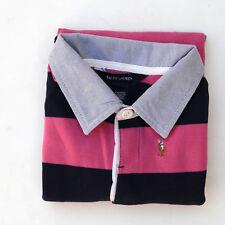 Camisa Top de manga larga Ralph Lauren Niña De Rayas Azul Rosa XL (16)