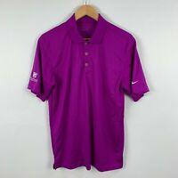 Nike Golf Mens Polo Shirt Size Medium Purple Short Sleeve Collared Hollard