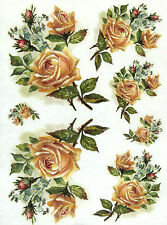 Rice Paper for Decoupage Scrapbooking Sheet Craft Champagne Roses
