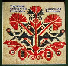 BOOK Croatian Folk Embroidery ethnic peasant design Balkan costume antique dress
