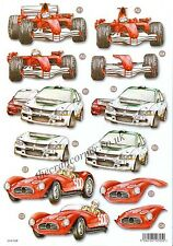 Motor Car Die Cut 3D Decoupage Sheet Card Making Paper Craft *NO CUTTING REQ*