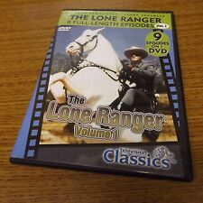 The Lone Ranger - 9 Full Length Episodes Dvd - Disc Mint