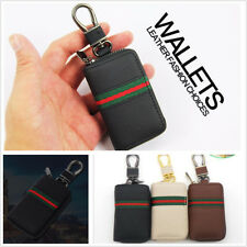 Black PU Leather Car Remote Key Case Holder Men/Women Key Wallets Keychain Cover
