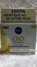 NIVEA Q10 Power Anti-Rides Soin de Jour + Extra-Nourrissant FPS15 Argan Bio 50ml