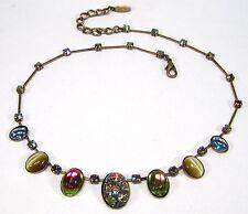 Ovale Modeschmuck-Halsketten & -Anhänger aus Glas und gemischten Metallen