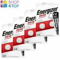 8 Energizer CR2016 Lithium Batteries 3V Coin Cell DL2016 Exp 2029 2BL Neuf