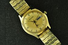 VINTAGE MENS BULOVA AUTOMATIC WRISTWATCH CALIBER 11 ANACB FROM 1970 KEEPS TIME