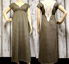 ROUTE 66 Women Size XS Dress Summer Sleeveless Recycled Long Lace Striped 1820