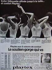 PUBLICITÉ LE SOUTIEN-GORGE PLAYTEX CONFORT QUI VA 5 RAISONS DE CONFORT