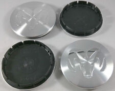 (4x) 1996-2004 Dodge Ram 2 1/2 Inch Brushed Silver Center Caps 63mm Hub Caps