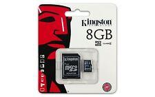 8GB Original Kingston Micro SD Tarjeta de memoria SDHC Clase 4 Adaptador de tarjeta SD &