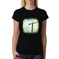 Jesus Christ Crucifixion Resurrection Womens T-shirt XS-3XL