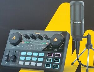 [FREE PRO HEADPHONE ] Audio Interface with DJ Mixer and Sound Card, Maonocaster