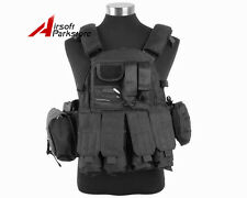 Tactical Molle US Navy Seals Plate Carrier Combat Vest Military Hunting Black
