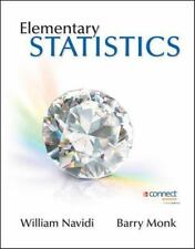 Elementary Statistics by William Navidi and Barry Monk 2012 ( Hardcover)