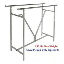 Clothes And Garment Display Fixture H Rack Commercial Rolling Super Heavy Duty