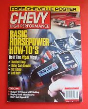 CHEVY HIGH PERFORMANCE MAGAZINE AUG/2001...BASIC HORSEPOWER HOW-TO's..POSTER