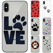 Dessana Paw Print TPU Silicone Protective Cover Phone Case Cover For Apple