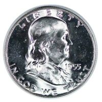 1955 Franklin Half Dollar Mint State