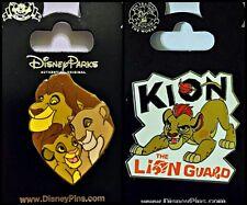 Disney Parks 2 Pin Lot LION KING Simba Nala Family Heart + KION the Lion Guard