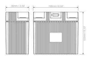 Shorai Lithium Iron Extreme-Rate Battery LFX27L3-BS12