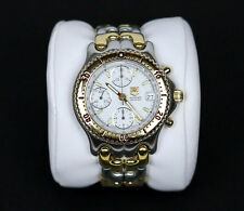 Tag Heuer S/El cg2120 Chronograph Automatic Rare Two Tone Watch