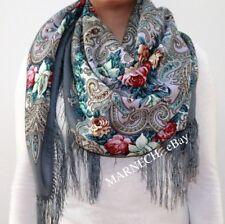 SALE Women's scarves Woolen Shawl Natural Pavlovo Posad Ladies Russian 1437-1