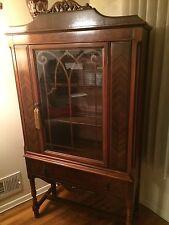 Solid Wood Mahogany Bookcase China Cabinet G Hummel & Sons