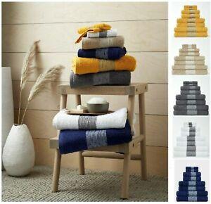 100% Egyptian Cotton Bainsford Designer Border Super Soft Thick Towel Bath Sheet