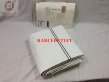 Frette Hotel Collection KING Duvet Cover White / Gray Embroidery